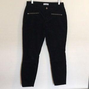 LOFT Black Curvy Skinny Ankle Corduroy Pants